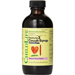 Child Life Formula 3 Cough Syrup, Natural Berry Flavor, 4 fl. oz