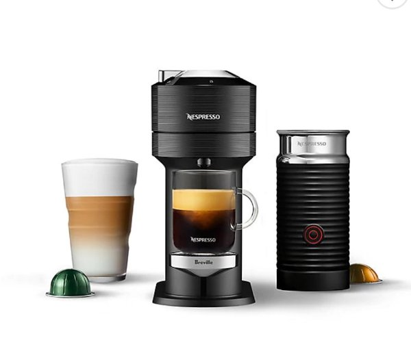 Vertuo Next 胶囊咖啡机+奶泡机组合
