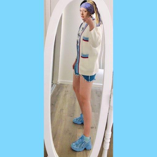 💙Adidas小蓝鞋,爱蓝色的女生运气都不会太差~