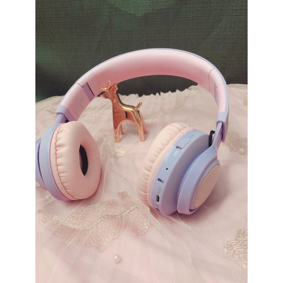 我的粉色少女心之蓝牙耳机