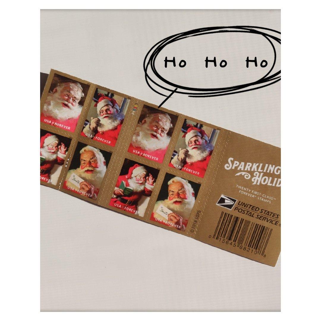圣诞老人邮票来了
