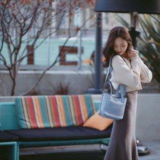 💙微众测 Meli Melo天蓝水桶包 温柔优雅的冬天
