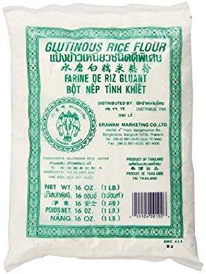 Amazon.com : Glutinous Rice Flour 16 Ounce Erawan : Sweet Rice Flour : Grocery & Gourmet Food
