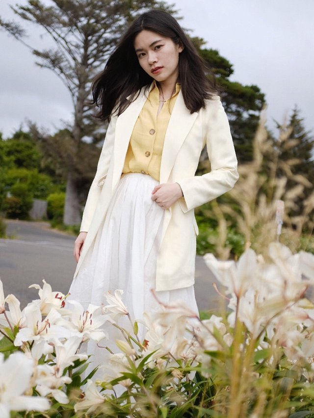 FansLook ☁️ 沁凉的黄色夏日💛