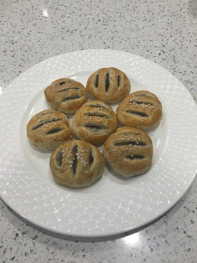 😋板栗肉松饼