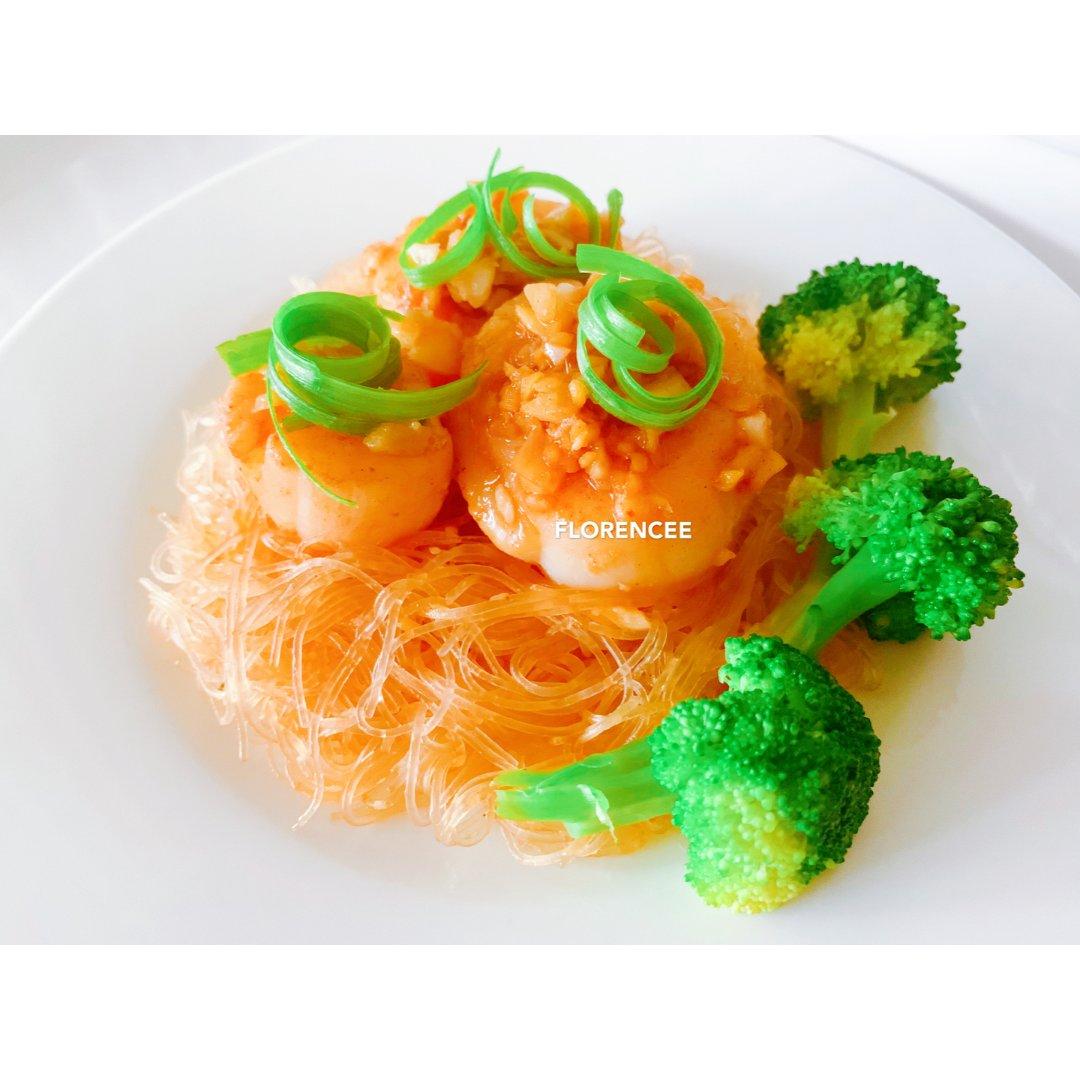 5分钟快手菜式 — 蒜茸扇贝炒粉丝