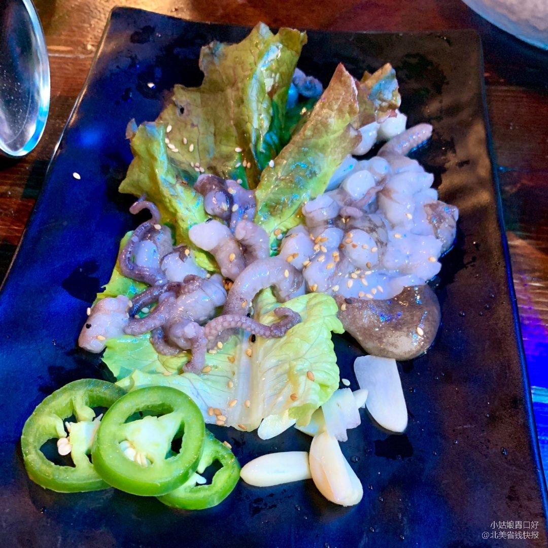 纽约怎么吃😋不用去韩国也能吃到🐙活章鱼
