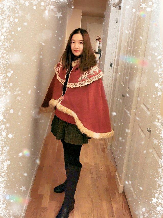 🎀圣诞恋歌🎀只有节日才敢穿的披风💓