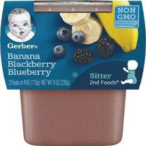 Gerber 2nd Foods Banana Mixed Berry, 4oz, 2ct : Target