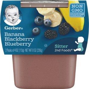 Gerber 2nd Foods Banana Mixed Berry, 4oz, 2ct : Target