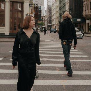 微胖女孩OOTD 在纽约Soho慵懒的午...