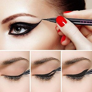 Amazon.com : Kiss Me Heroine Make Smooth Waterproof Liquid Eyeliner, Black, 1 Ounce : Beauty