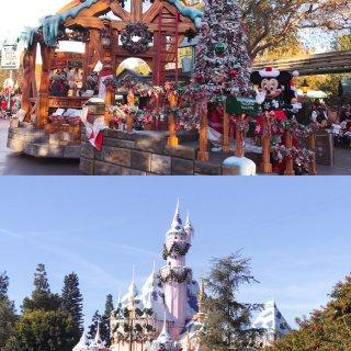 上年圣诞的洛杉矶迪士尼乐园🎄...