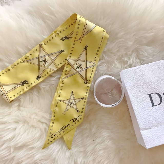 超美的Dior蜜蜂星星twilly