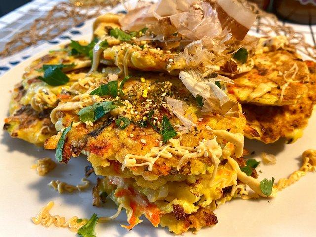 鸡肉蔬菜煎饼🐔 花样吃鸡胸肉 超美味😍
