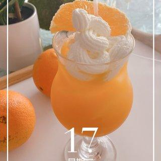 炎热的夏天|一杯❄️雪一样白的雪顶橘子冰...