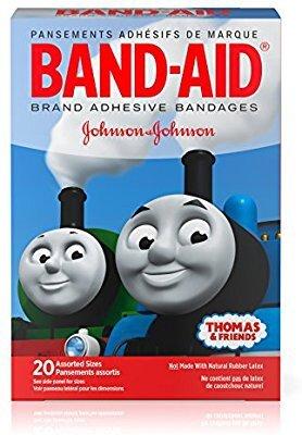 $1.37白菜价:Band-Aid 托马斯小火车卡通创可贴(多种尺寸 20片)