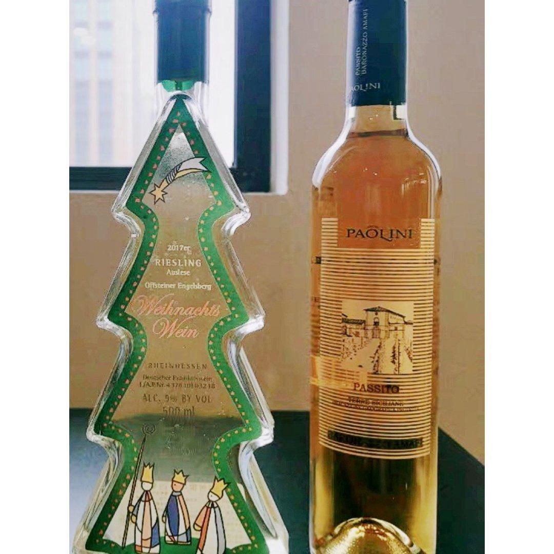 颜值超高的圣诞树🎄造型白葡萄酒 节日必入