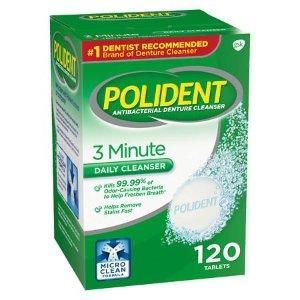 Polident 3 Minute Antibacterial Denture Cleanser Tablets | Walgreens