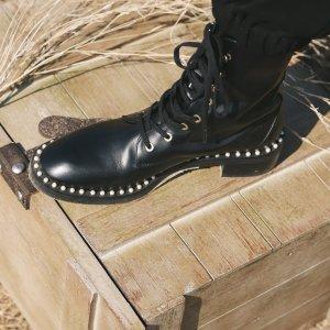 THE FIFER 80珍珠踝靴