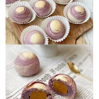 一看就心动系列的甜品 |紫薯芋泥蛋黄千层...