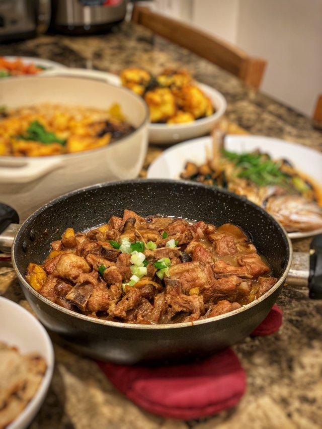 年夜饭记录:吃到了香港和台湾的地方...