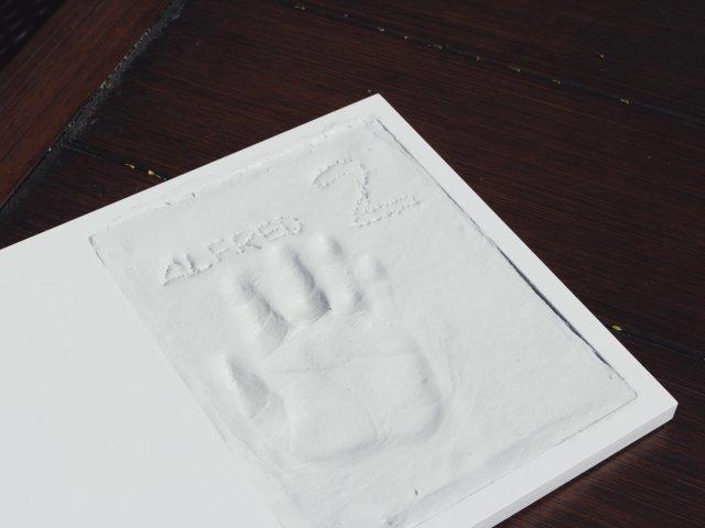 成长的印记—宝贝手模/脚模相框