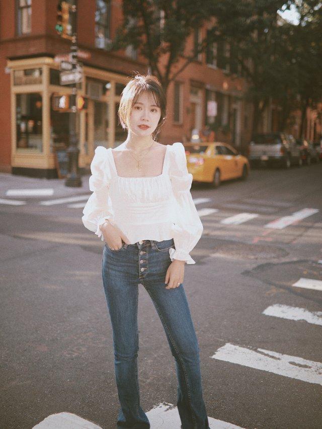 最爱白衬衫仔裤,四季从不缺席🍃