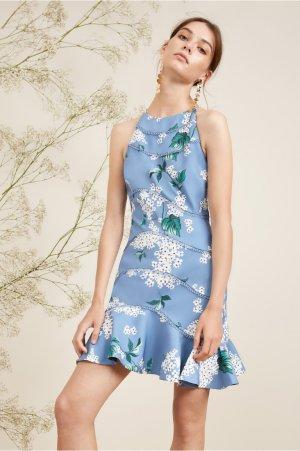 WILD THOUGHTS MINI DRESS dusty blue floral | KEEPSAKE | BNKR