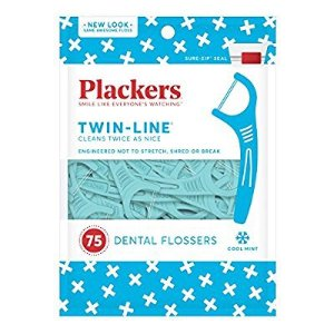 $8.00Plackers Twin Line Whitening Flosser, 75 count (Pack of 4)