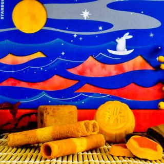 星巴克月饼礼盒🎁里都有啥? 这也太有创意了吧!