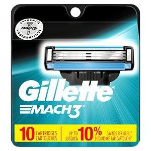 $13.98 包邮Gillette Mach3  吉列风速系列替换刀头 10个
