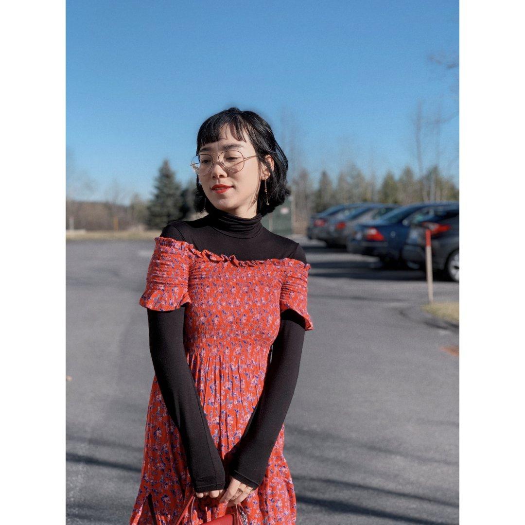 穿搭分享:冬天裙子怎么穿