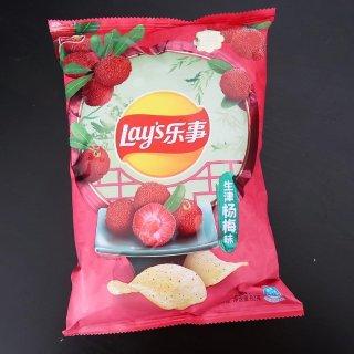  吃吃喝喝 乐事生津杨梅味薯片🤔奇怪口味...