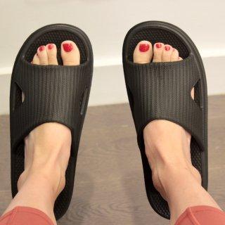 微众测   网易严选塑料拖鞋