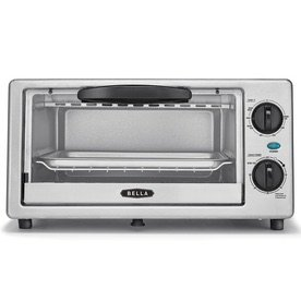 $19BELLA 4-Slice Stainless Steel Toaster Oven with Auto Shut-Off