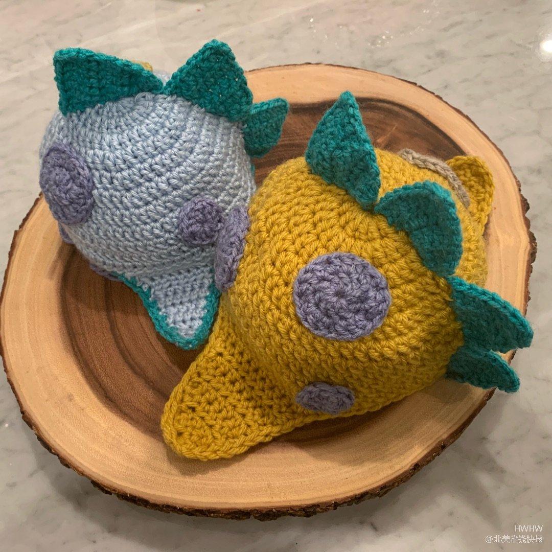 Handmade 👍 恐龍毛線帽