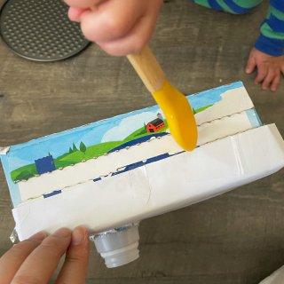 废旧盒DIY喂食玩具|一拖二亲子游戏!1...