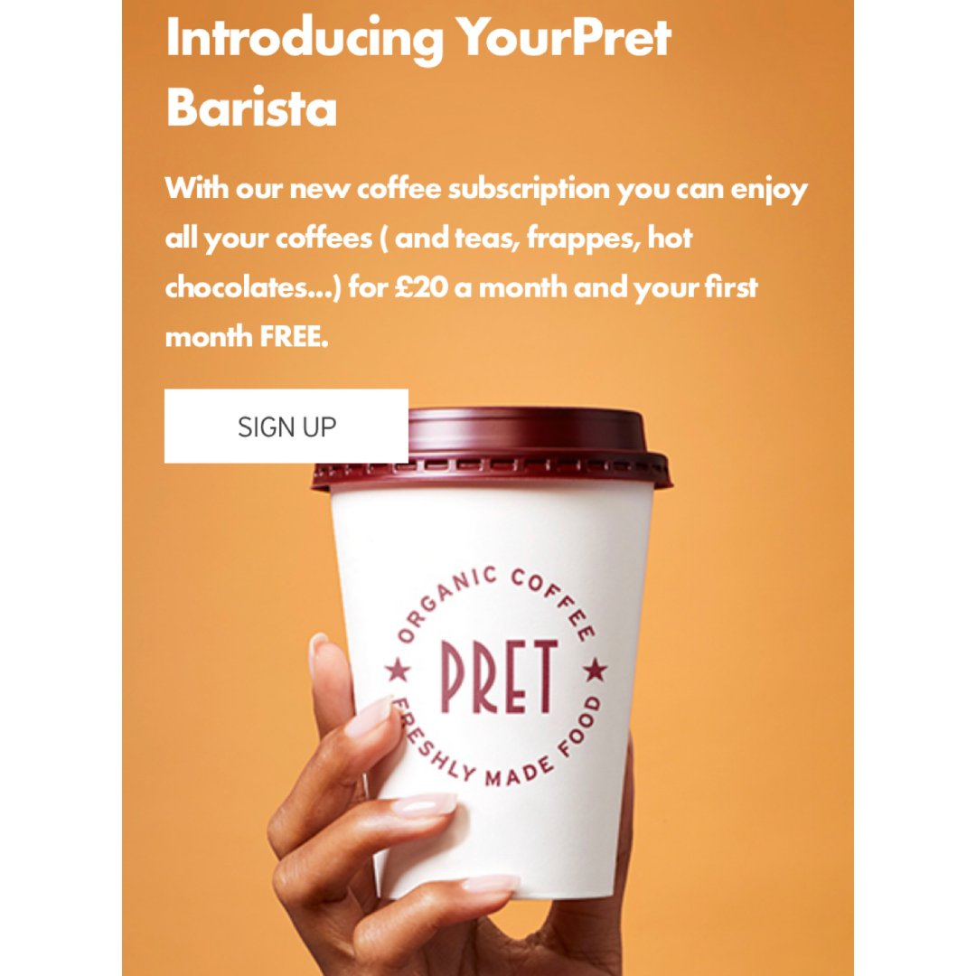 Pret-A-Manger 150杯咖啡...