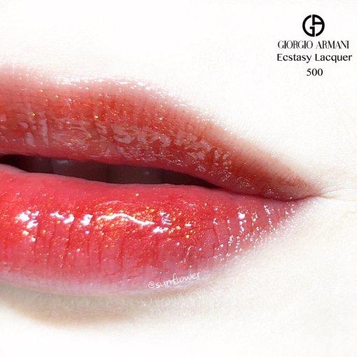 一支带金闪的橘红色唇釉🎇
