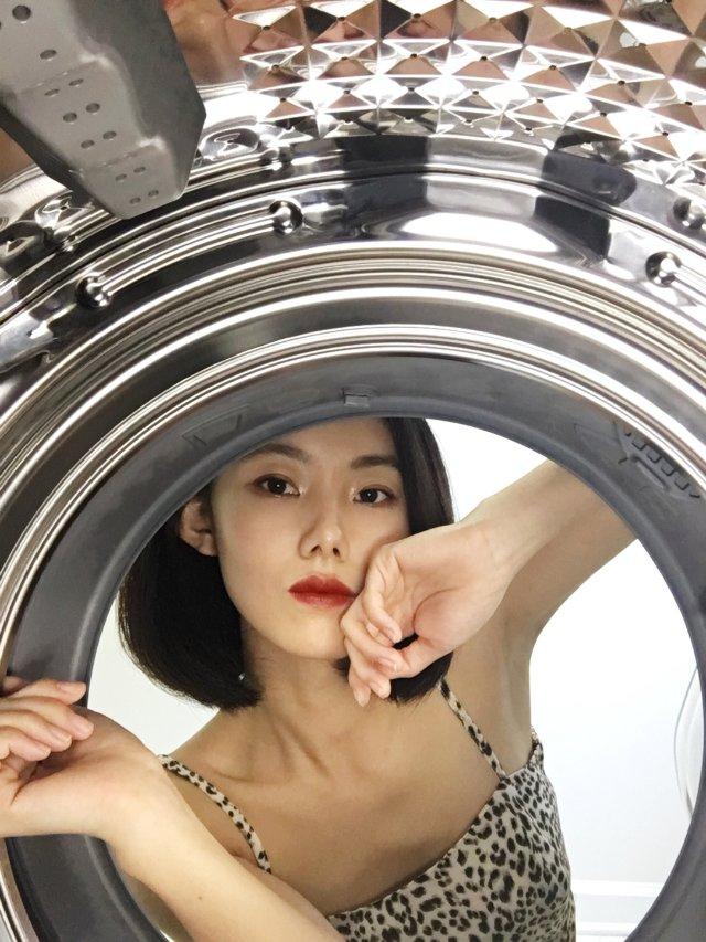 解锁洗衣机自拍