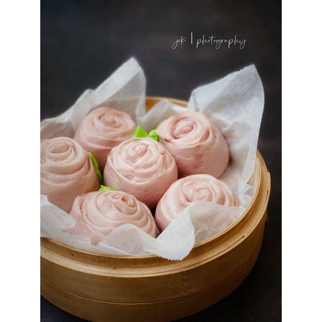 七夕甜品专场 |颜值即美味的玫瑰花馒头