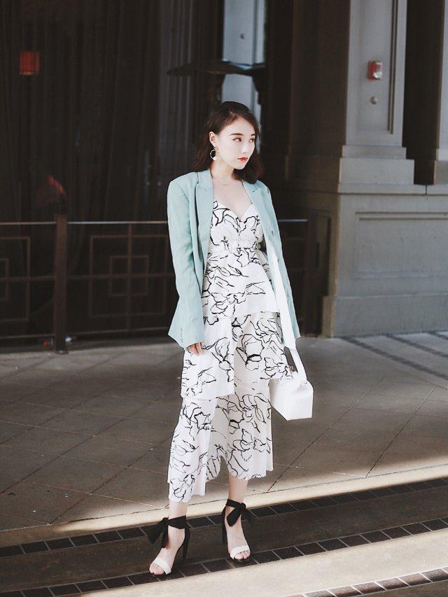 穿搭 | Tiffany蓝小西装的夏末