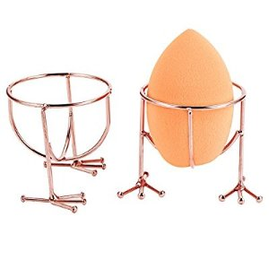 Amazon.com : Hestya Makeup Sponge Holder Egg Sponge Stand Puff Display Stand Dryer Rack Makeup Sponge Support (Sponge is not included), 2 Pieces, Rose Gold : Beauty