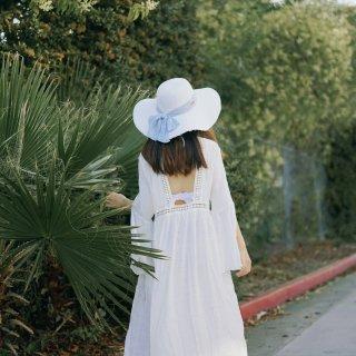 【微众测 Cupshe白色罩衫比基尼穿搭】