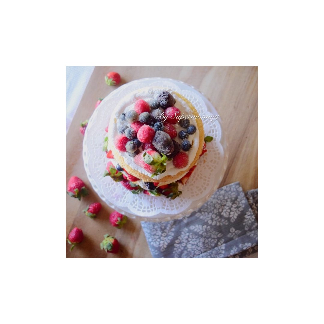 Berry-licious 裸蛋糕...