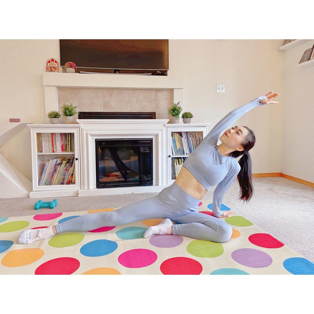 居家健身|秋冬款瑜伽服|产后修复健身总结