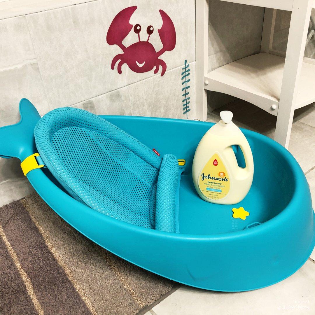 宝宝洗澡好物の蓝鲸鱼