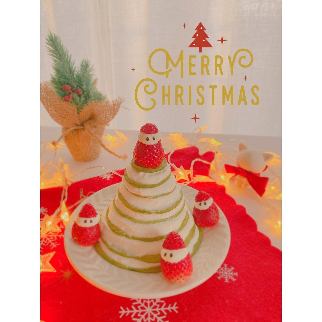 全麦圣诞🎄松饼蛋糕 低卡减脂甜品 免烤