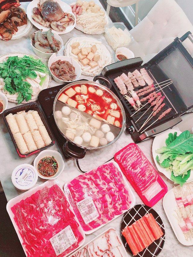 冬日在家最爱烤肉+火锅